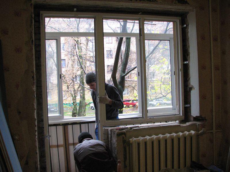 Балкон своими руками установка пластиковых окон 68