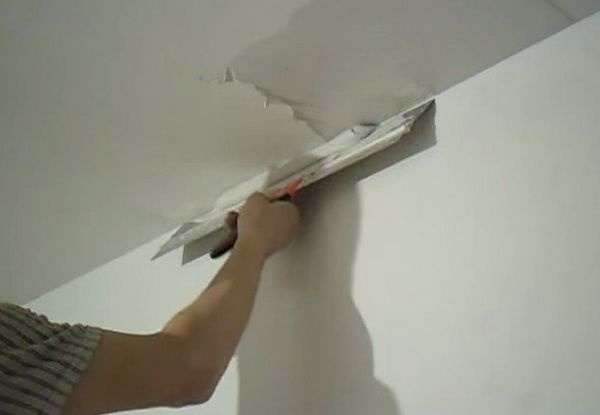 Шпатлевка потолка своими руками