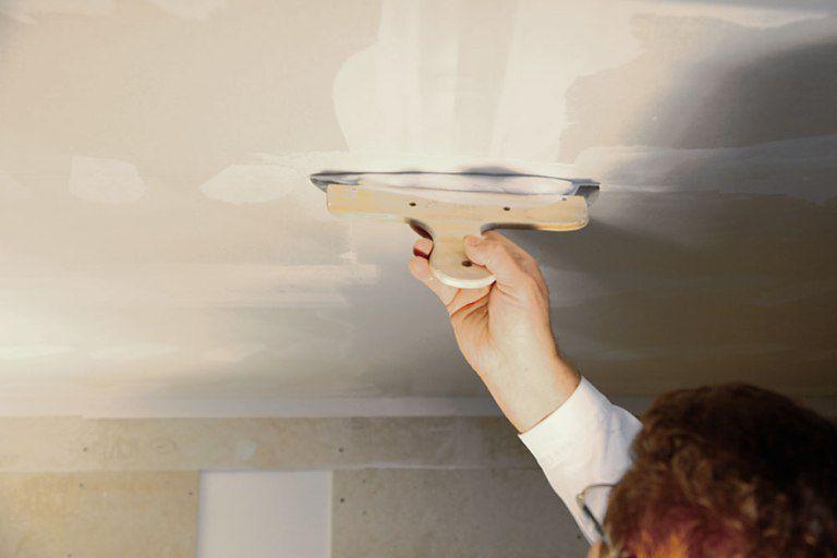 Штукатурка потолка из гипсокартона