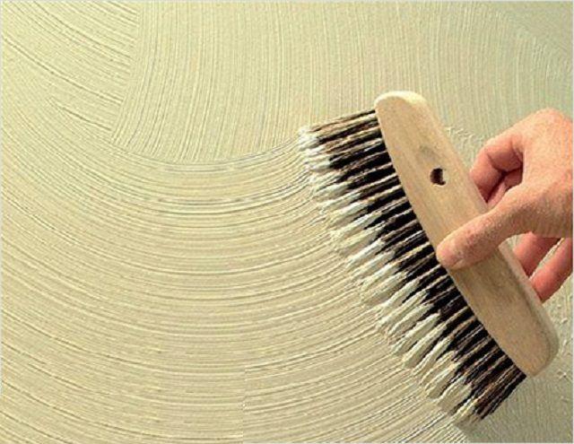 Рельефный рисунок с помощью металлической щетки