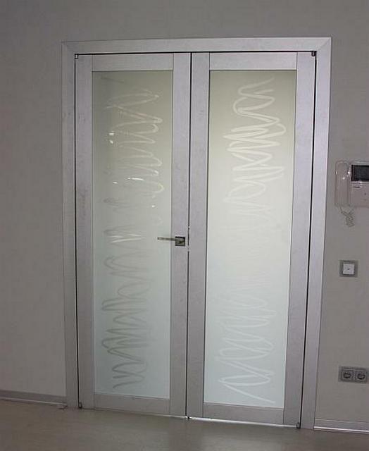 Алюминиевые двери со стеклянными вставками