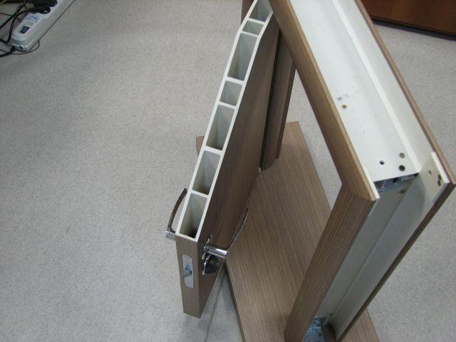 Типичное строение пластиковой двери