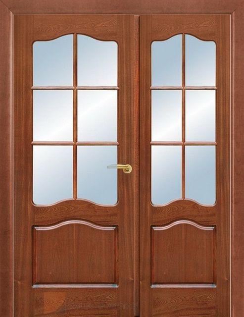 Двупольная дверь с несимметричными створками