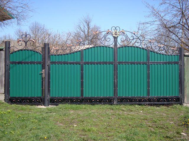 Забор из профлиста пошаговая инструкция фото