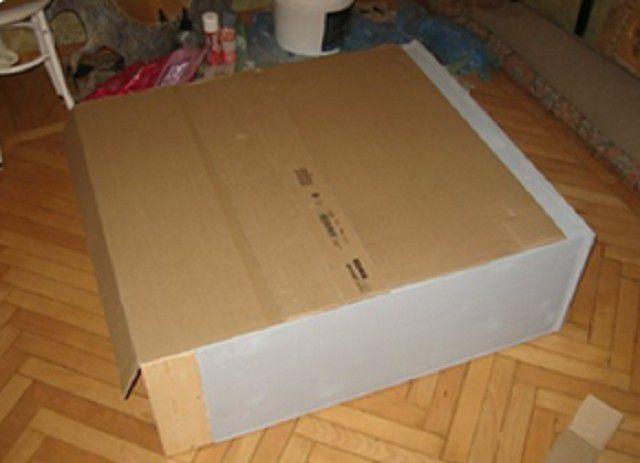 Второй вариант портала - более простой, так как это обычная пустотелая коробка