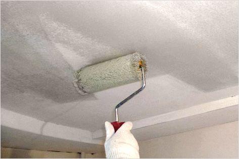 Грунтование потолка своими руками