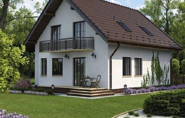 Фото красивых домов с двухскатной крышей