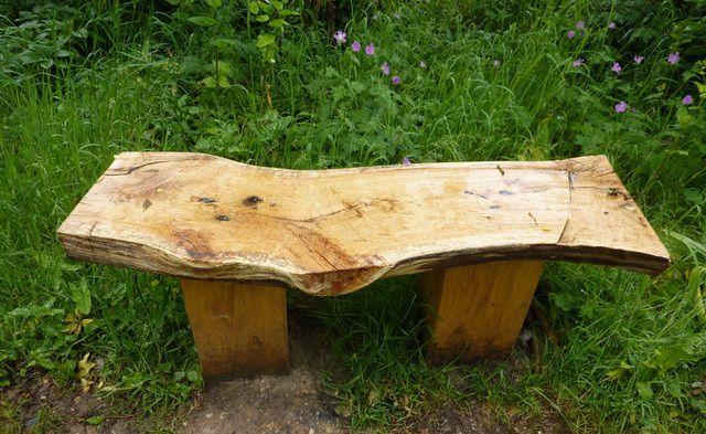 Деревянная скамья без спинки