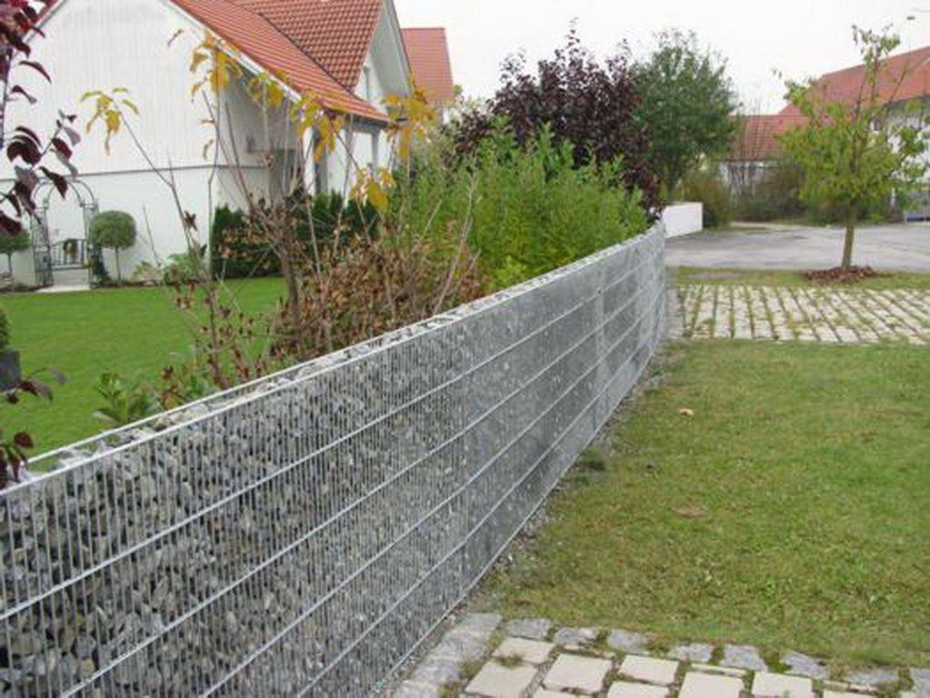 Забор из габионов – прочная и оригинальная конструкция, которая защитит и украсит приусадебный участок