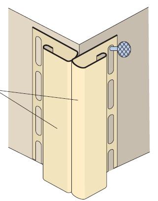 Использование двух стартовых J-профилей сайдинга вместо углового