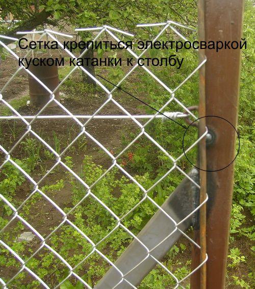 Как сделать забор из рабица