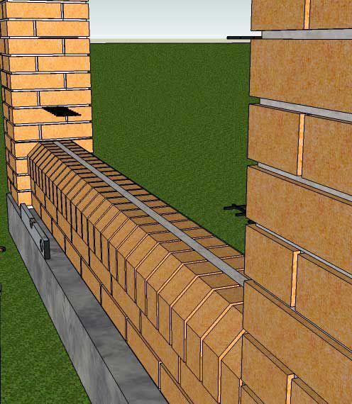 Ограда из кирпича своими руками 88