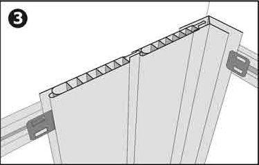 Крепление панелей от угла