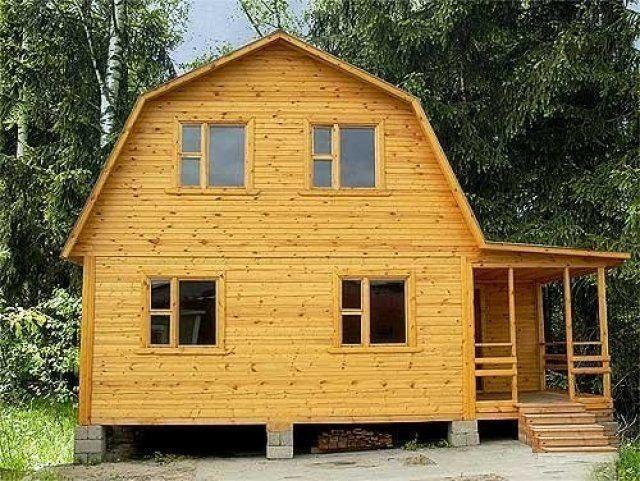 Крыша для дома из бруса своими руками видео