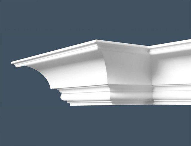 Для отделки используются фигурные детали из пенополистирола или полиуретана