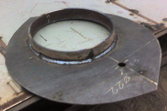 Передняя стенка печи с кольцом
