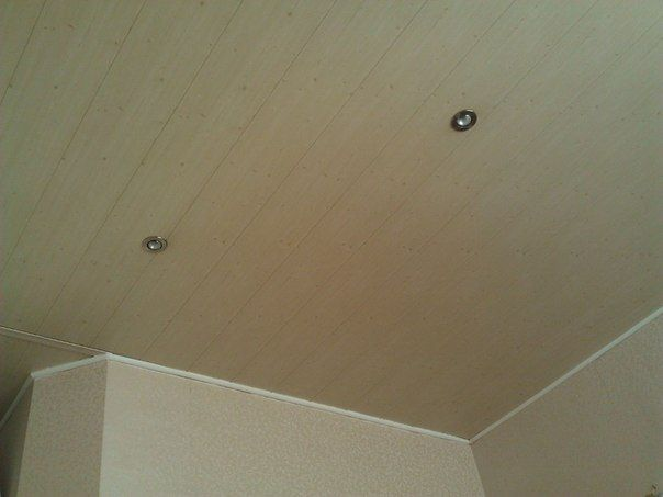 Пластиковый потолок на кухне
