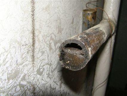 Появление минеральных отложений в трубах