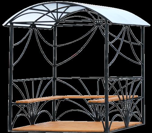 Беседки своими руками из металла и поликарбоната