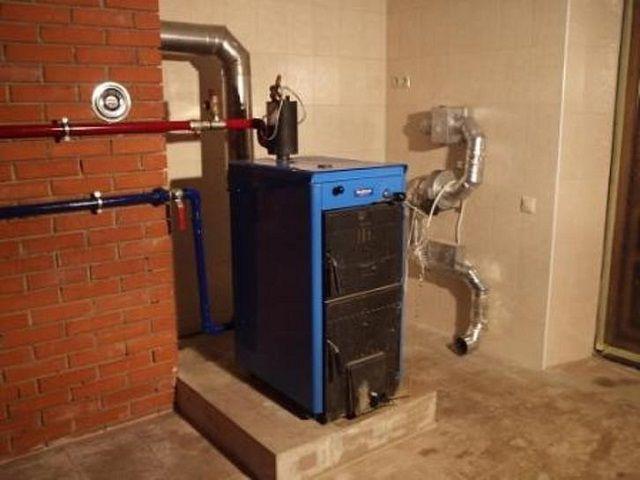 Установка газового котла в частном доме своими