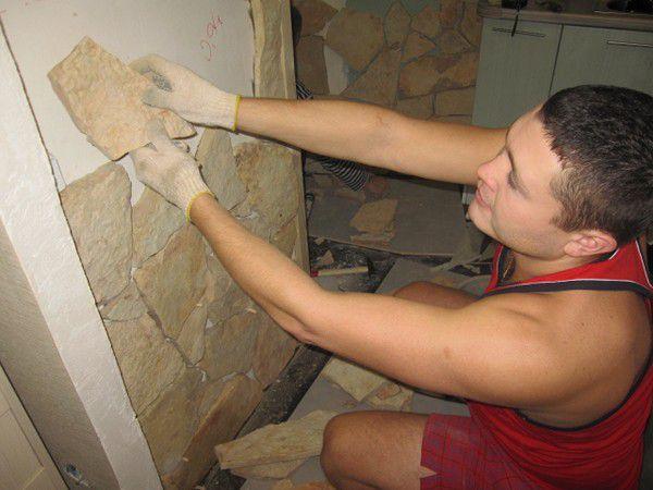 Укладка декоративного камня своими руками