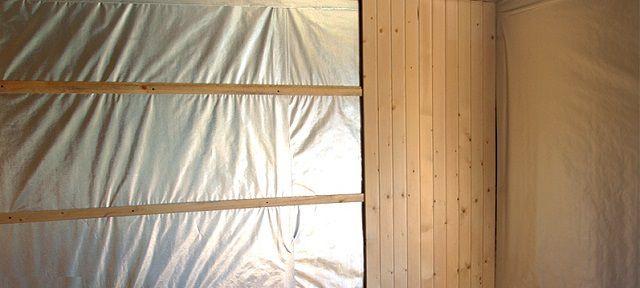 Фольгированная пароизоляционная мембрана на стенах