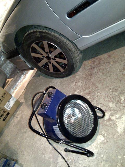 Электрическая тепловая пушка для отопления гаража