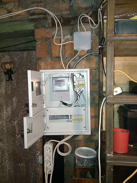 Электропроводка в гараже