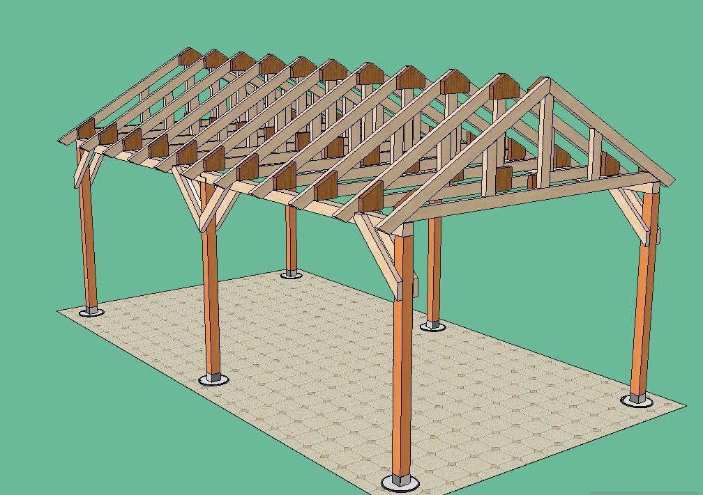 Фермы крыши монтируем на несущие балки на одинаковом друг от друга расстоянии