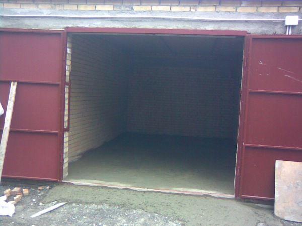 Бетонный пол в гараже
