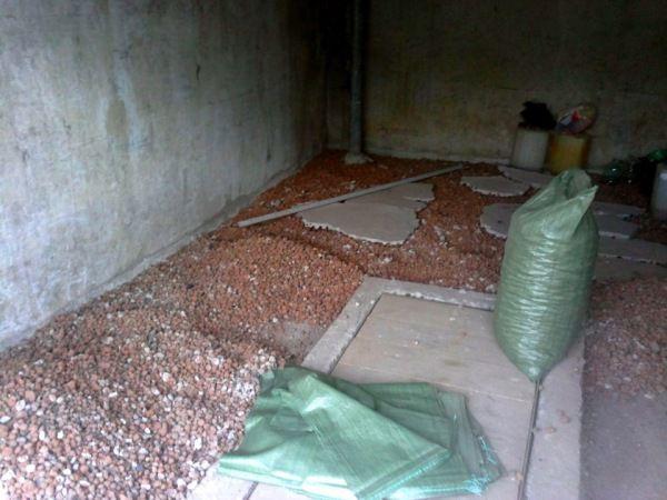 Деревянный пол можно утеплить ерамзитом