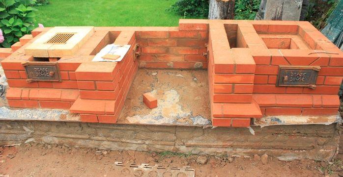 Пример строительства барбекю