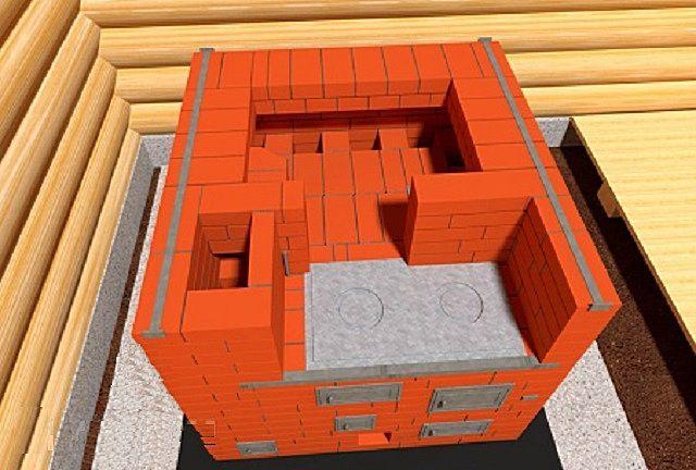 Обязательное усиление стенок металлическими полосками на 16-м ряду
