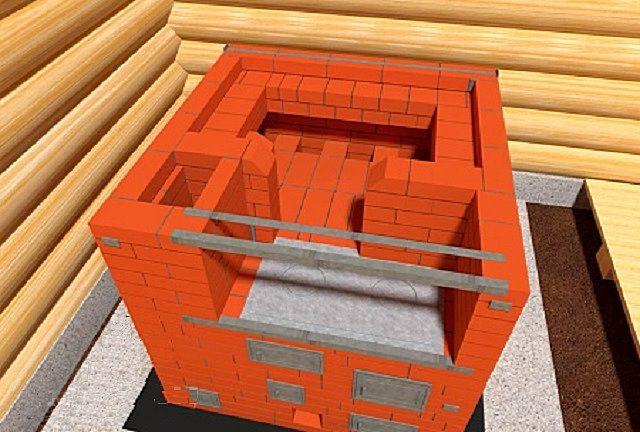17-й ряд: после кладки -  несколько операций с металлическими конструкциями