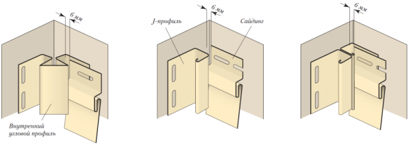 3 варианта реализации внутренних углов для обшивки сайдингом