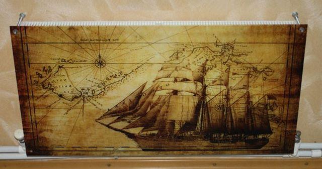 На стекло можно нанести и оригинальный рисунок или фотографию