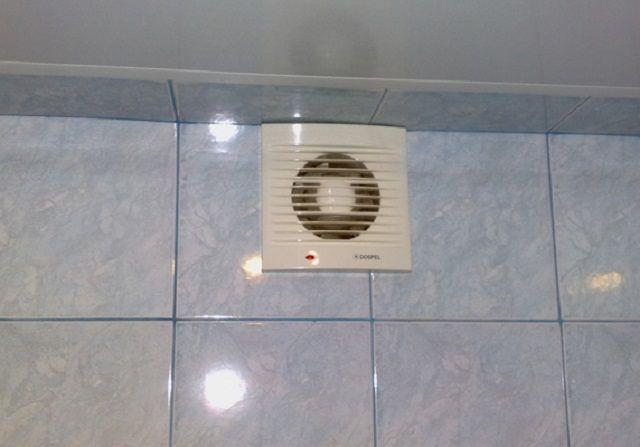 Вентилятор в туалете