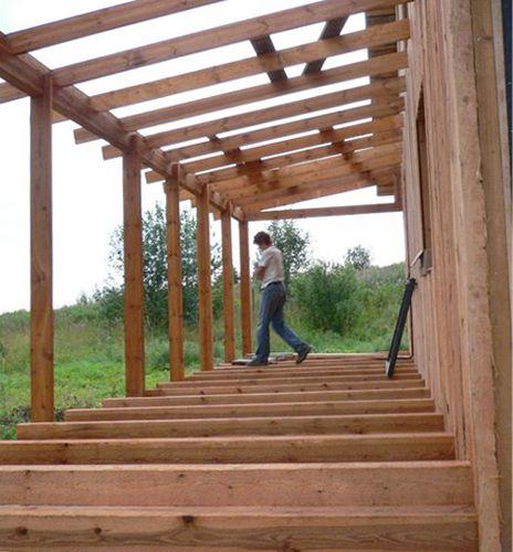 Как пристроить террасу к дому своими руками фото