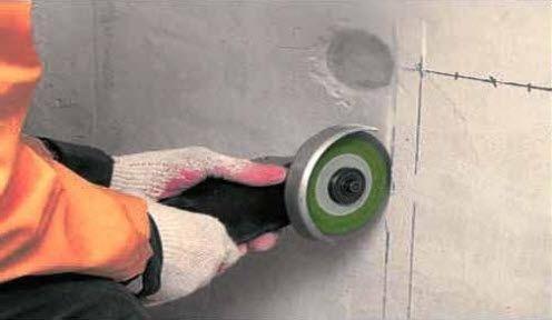 Как сделать штробу под проводку без пыли