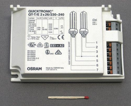 Подключение источника света с электронным балластом