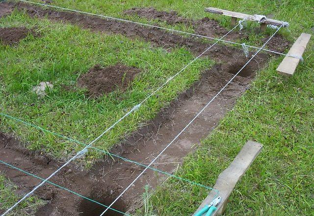 К подготовительным работам можно отнести  трассировку и выкапывание скважин  (котлованов)