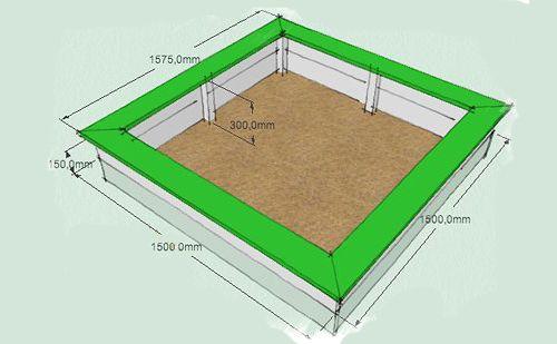 Схема детской песочницы