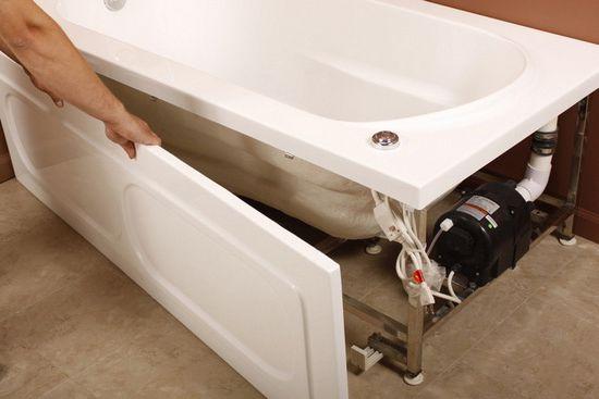Установка экрана акриловой ванны своими руками