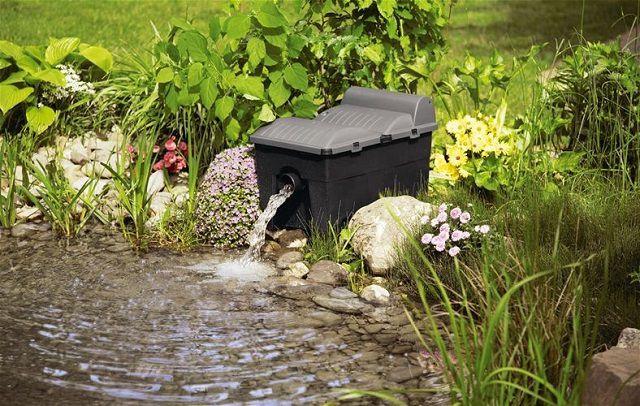 Чтобы искусственный пруд действительно радовал хозяев, не обойтись без системы фильтрации