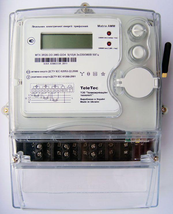 Электронный счетчик электроэнергии трехфазный MTX3 с GSM