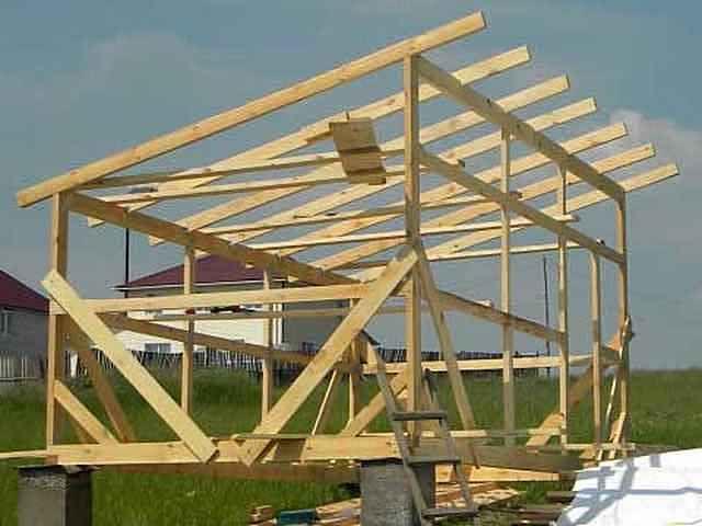 Односкатная крыша своими руками каркасный дом