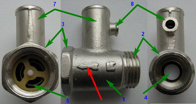 Устройство предохранительного клапана для водонагревателя