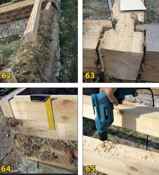 Строим деревянный дом из бруса своими руками 56