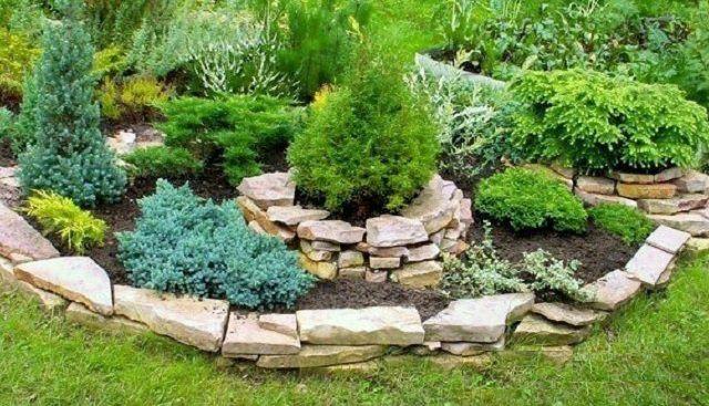 Популярный элемент садового дизайна - альпийская горка