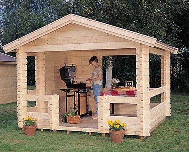 Из чего построить летнюю кухню на даче своими руками
